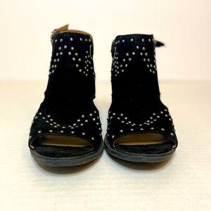 Esprit Studded Faux Suede Black Sandals 8